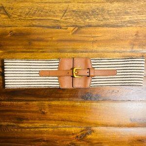 🍒3/$30 New Loft Black & Ivory Striped Belt
